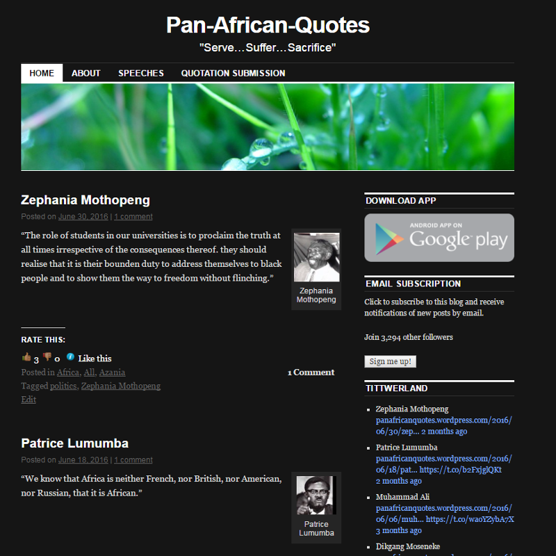 Pan African Quotes Blog